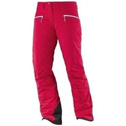 Clothing Women Cargo trousers Salomon Whitecliff Gtx W Red