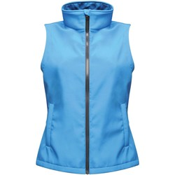 Clothing Women Jackets / Cardigans Professional ABLAZE Printable Bodywarmer Blue