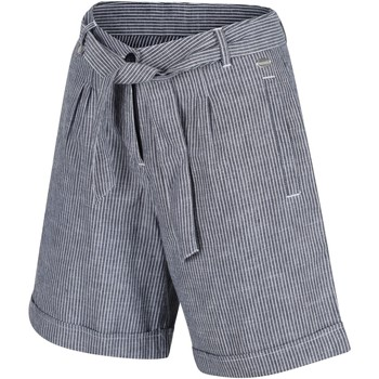 Clothing Women Shorts / Bermudas Regatta SAMORA Organic Cotton Shorts Navy Stripe Blue Blue