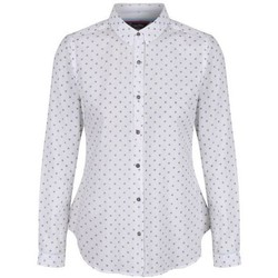 Clothing Women Shirts Regatta Meena Coolweave Cotton Shirt Hydrangea White White