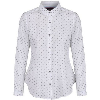 Clothing Women Shirts Regatta Meena Coolweave Cotton Shirt White White
