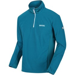 Clothing Men Fleeces Regatta Boswell Stretch Half Zip Grid Fleece Blue Blue