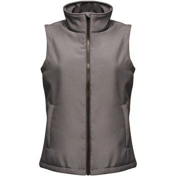 Clothing Women Jackets / Cardigans Professional ABLAZE Printable Bodywarmer Seal Grey Black Grey Grey