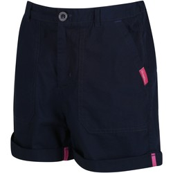 Clothing Children Shorts / Bermudas Regatta Kids Damzel Cool Weave Cotton Shorts Horizon Blue Blue