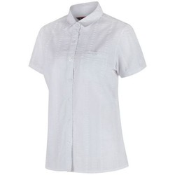 Clothing Women Shirts Regatta Jerbra II Coolweave Cotton Shirt Navy White White