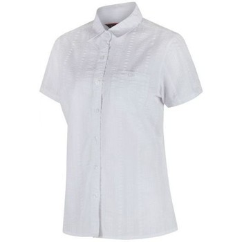 Clothing Women Shirts Regatta Jerbra II Coolweave Cotton Shirt White White