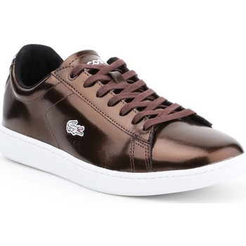 Shoes Women Low top trainers Lacoste Carnaby Evo White,Brown