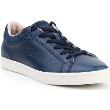 Shoes Women Low top trainers Lacoste Straightset White,Navy blue