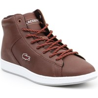 Shoes Women Hi top trainers Lacoste Carnaby Evo Brown