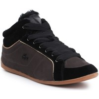 Shoes Women Hi top trainers Lacoste Missano Mid Black,Brown