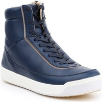 Shoes Women Hi top trainers Lacoste Explorateur White,Navy blue