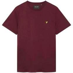 Clothing Men Short-sleeved t-shirts Lyle And Scott Vintage Plain T Shirt purple