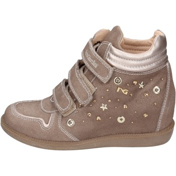 Shoes Girl Trainers NeroGiardini sneakers suede beige