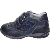 Shoes Boy Trainers NeroGiardini sneakers leather suede blue