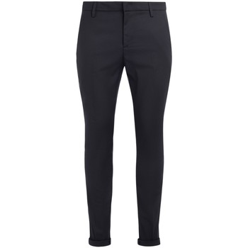 Clothing Trousers Dondup Gaubert model trousers made of blue and black pied de poule Blue