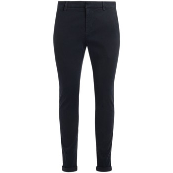 Clothing Trousers Dondup Gaubert model trousers made of blue cotton Blue
