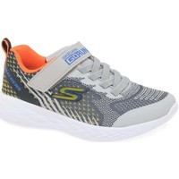 Shoes Girl Fitness / Training Skechers GO Run 600 Baxtux Boys Sports Trainers grey