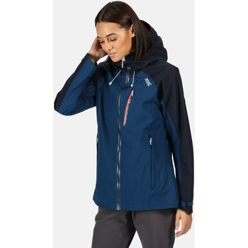Clothing Women Coats Regatta BIRCHDALE Waterproof Shell Jacket Blue