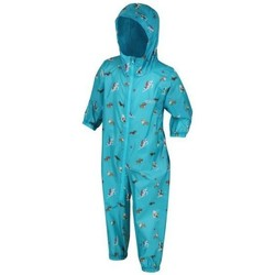 Clothing Children Coats Regatta Waterproof Puddlesuit Blue Blue