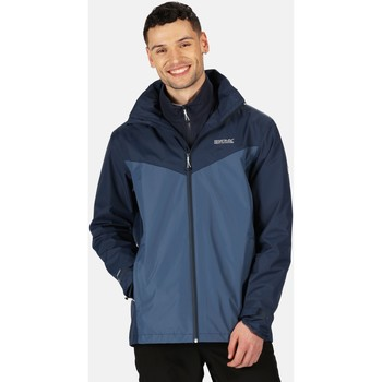 Clothing Men Coats Regatta Telmar III Waterproof 3 in 1 Walking Jacket Blue Blue