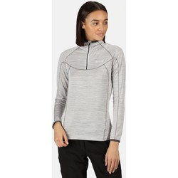 Clothing Women T-shirts & Polo shirts Regatta Yonder Half Zip Long Sleeve Top Seal Grey  White White