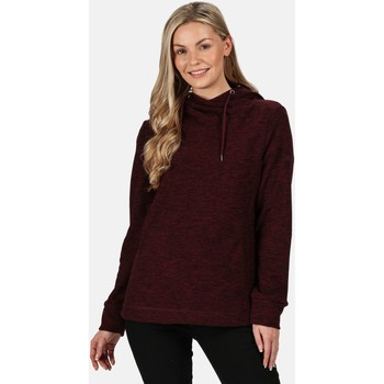 Clothing Women Fleeces Regatta Kizmit II Hooded Marl Fleece Burnt Tikka Red Red