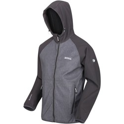 Clothing Men Coats Regatta Arec II Hooded Softshell Walking Jacket Grey Grey