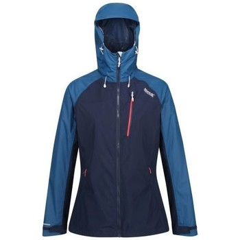 Clothing Women Coats Regatta Highton Stretch Waterproof Hooded Walking Jacket Blue Blue