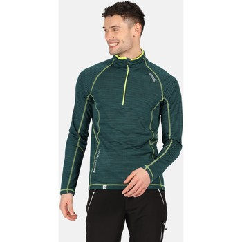 Clothing Men T-shirts & Polo shirts Regatta Yonder Half Zip Long Sleeve Top Green Green