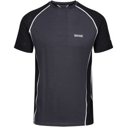 Clothing Men T-shirts & Polo shirts Regatta TORNELL II TShirt Nightfall Navy Black Black