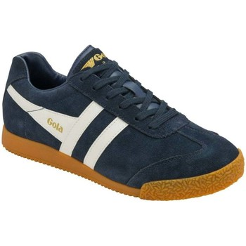 Shoes Women Low top trainers Gola Harrier Suede Womens Trainers blue