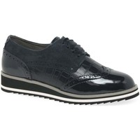 Shoes Women Derby Shoes & Brogues Caprice Jazmyn Womens Casual Brogue Shoes blue