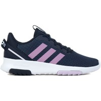 Shoes Children Low top trainers adidas Originals Racer TR 20 K White,Navy blue,Pink