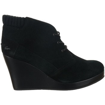 Shoes Women Ankle boots Lacoste Leren 4 Black