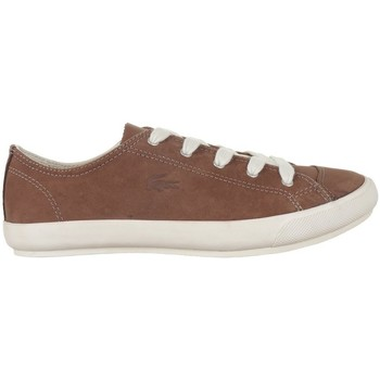 Shoes Women Low top trainers Lacoste Fairburn W8 White,Brown