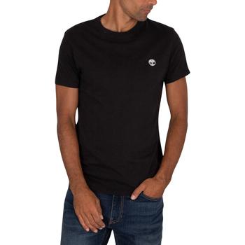 Clothing Men Short-sleeved t-shirts Timberland Dun River Slim T-Shirt black