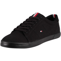 Shoes Men Low top trainers Tommy Hilfiger Harlow Canvas Trainers black