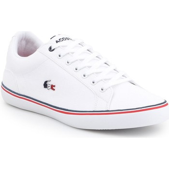 Shoes Men Low top trainers Lacoste Lerond 7-35CAM014821G white