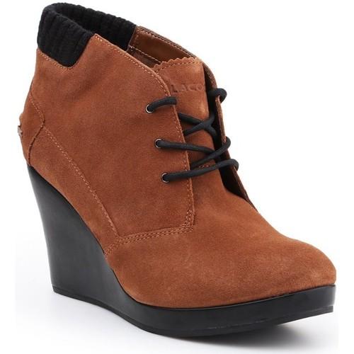 Shoes Women Shoe boots Lacoste Leren 7-26SRW4204013 brown