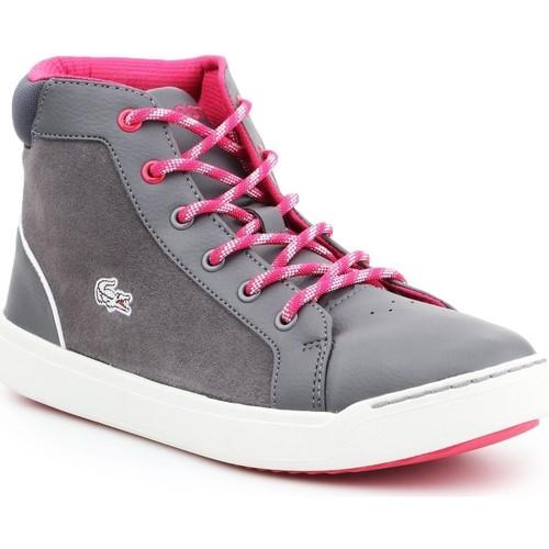 Shoes Women Hi top trainers Lacoste Explorateur MID 7-32CAJ1001248 grey, pink