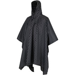 Clothing Coats Regatta Adult's Festival Waterproof Poncho Black Polka Black Black