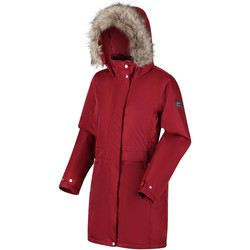 Clothing Women Coats Regatta Lexis Waterproof Insulated Fur Trimmed Hooded Parka Jacket Red Red