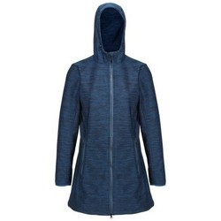 Clothing Women Coats Regatta Women's Alerie Longline Wind Resistant Hooded Softshell Jacket Blue