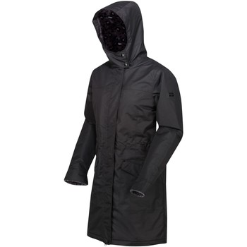Clothing Women Coats Regatta Rimona Waterproof Insulated Hooded Parka Jacket Black Black