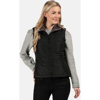 Clothing Women Jackets Regatta Women's Westlynn Insulated Fur Trimmed Bodywarmer Black
