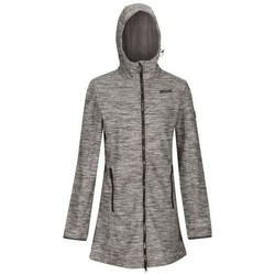 Clothing Women Coats Regatta Women's Alerie Longline Wind Resistant Hooded Softshell Jacket Grey