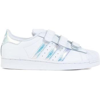 Shoes Children Low top trainers adidas Originals Superstar CF C White