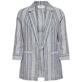 Clothing Women Jackets / Blazers Only copy of Onlpaloma-Canyon Stripe Life Blazer TLR 15199756 Blue