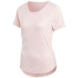 Clothing Women Short-sleeved t-shirts adidas Originals Run IT Tee 3S W Pink