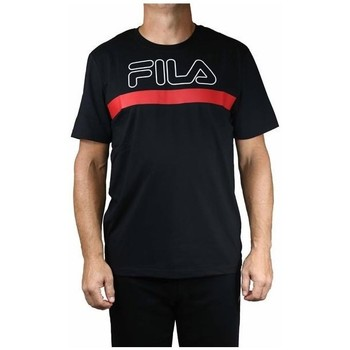 Clothing Men Short-sleeved t-shirts Fila Men Laurentin Tee Black, Red